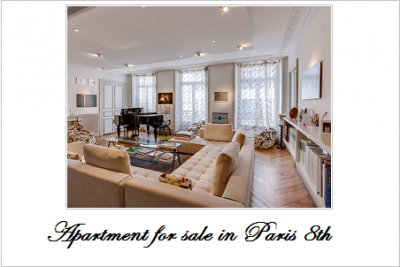 Apartment for sale in paris 8th
