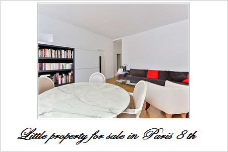 Little property for sale in paris 8 th