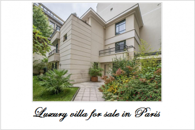 Luxury villa for sale in paris