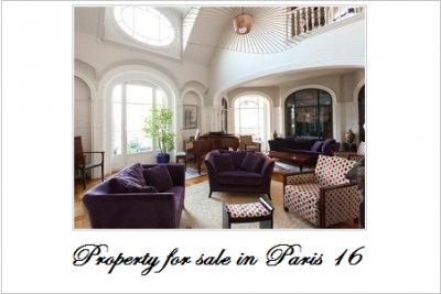 Property for sale in paris 16